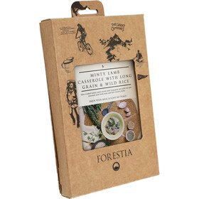 Forestia Heater Outdoor Meal Meat 350g, Minty Lamb Casserole with Long Grain and Wild Rice